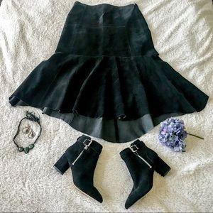 CCO ⬇️CAbi Genuine Suede Hi Low Skirt